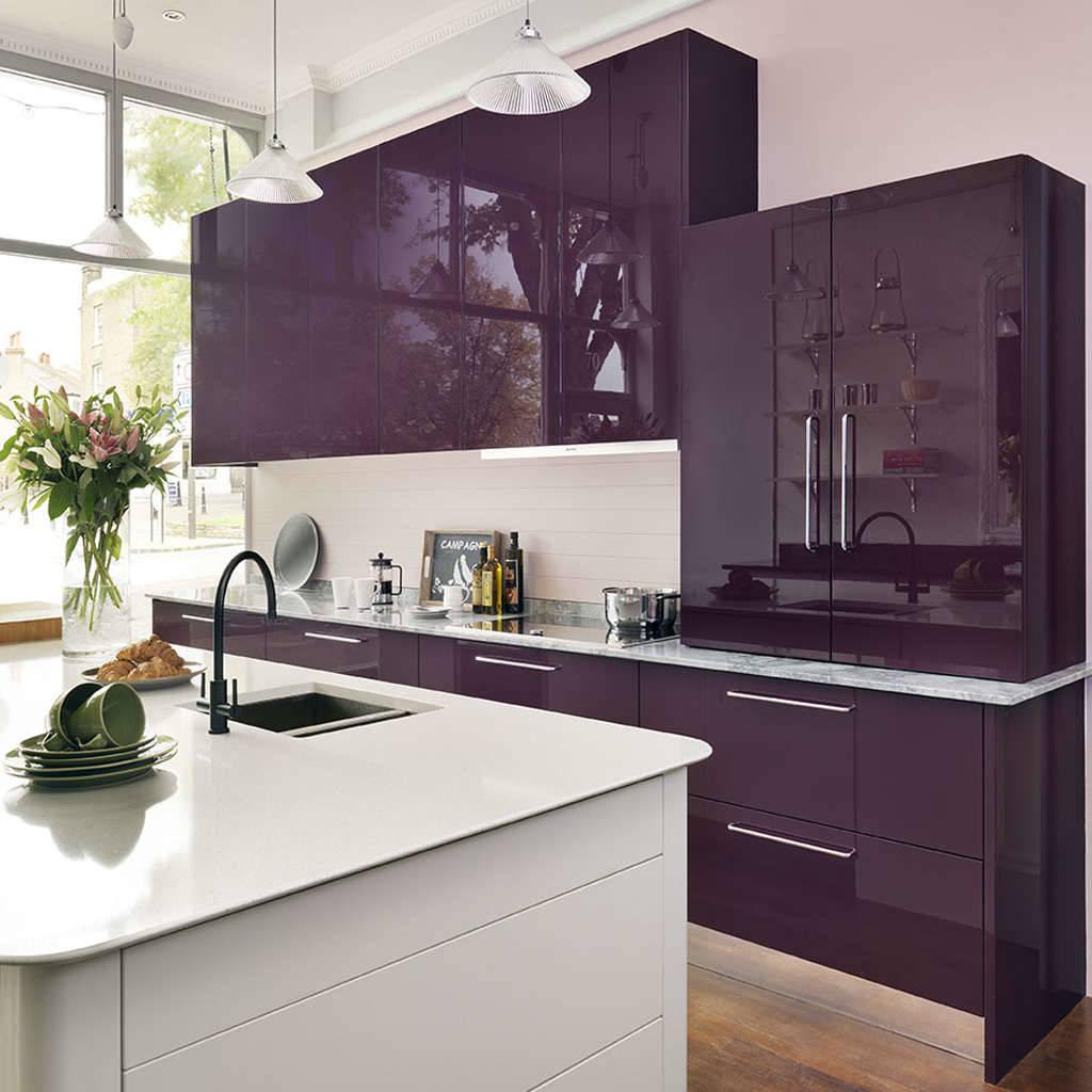 purple kitchen design