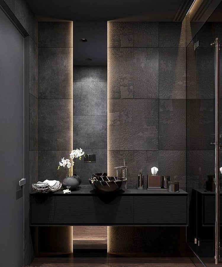 dark color bathroom design