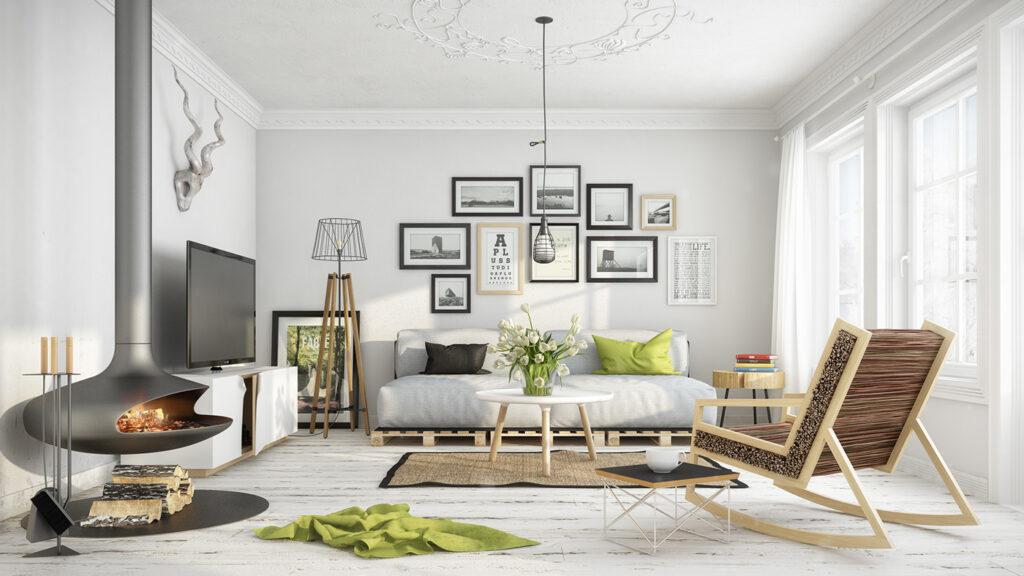 scandinavian living room