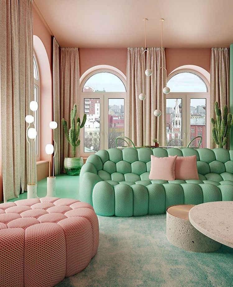 colorful sofa