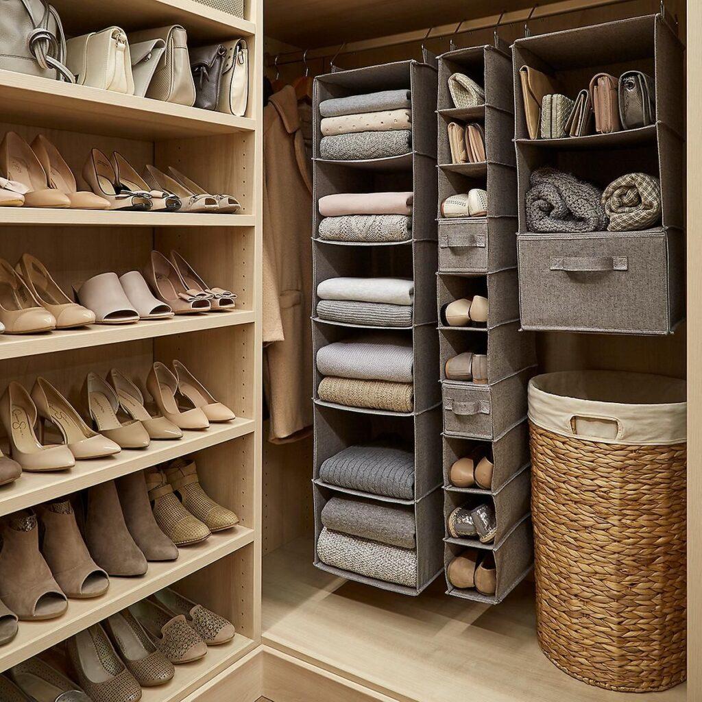 shelves in closet