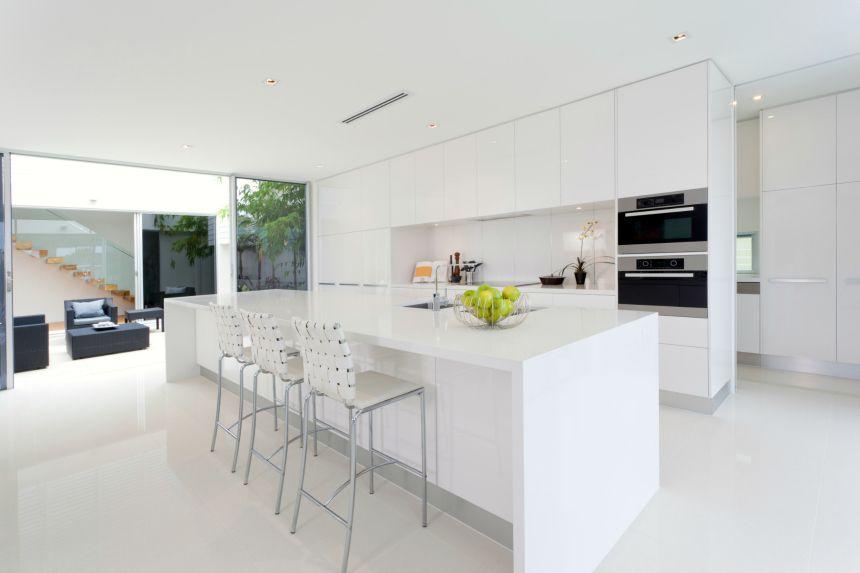 white contemporary kitchen design