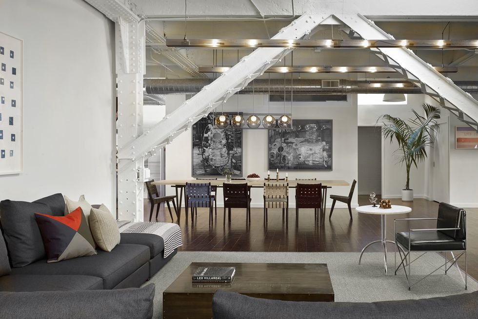 open concept space living room